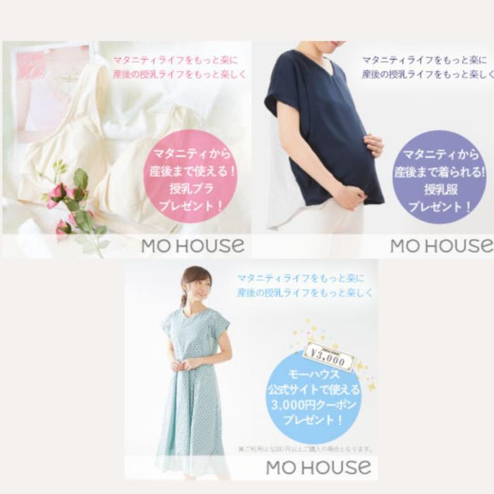 3000円クーポン/マタニティ兼用授乳服/モーブラギフト